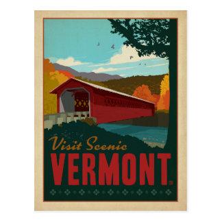 Bezoek Schilderachtig Vermont Briefkaart
