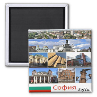 BG - Bulgarije - Sofia - Collage Magneet