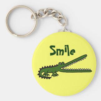 BG grappige het Glimlachen Krokodil Keychain Sleutelhanger