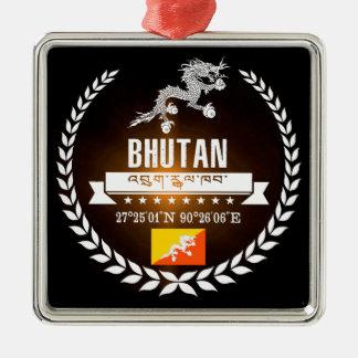 Bhutan Zilverkleurig Vierkant Ornament