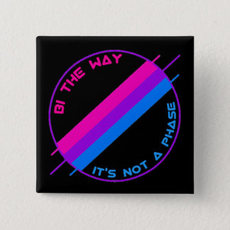 Bi de Speld van de Manier Vierkante Button 5,1 Cm