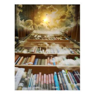 Bibliotheek in de Hemel Briefkaart