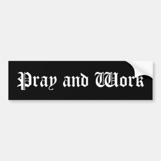"""""""Bid en werk"""" de Sticker van de Bumper"""