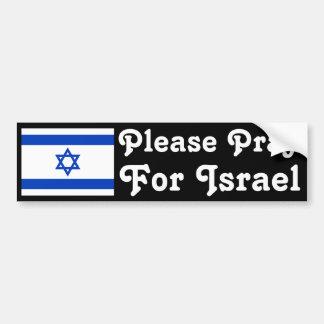 Bid voor Israël Bumpersticker