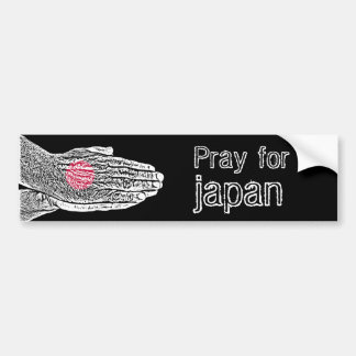Bid voor Japan - Vlag Bumpersticker