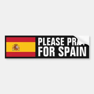 Bid voor Spanje Bumpersticker