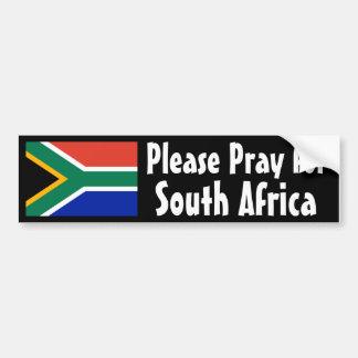 Bid voor Zuid-Afrika Bumpersticker