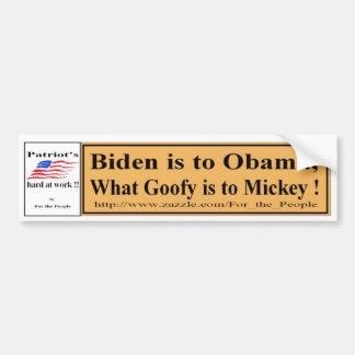 Biden aan Obama Y Bumpersticker