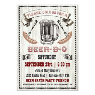 Bier-B-de Uitnodiging van de q- Partij op Hout