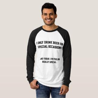 Bier bij speciale gelegenheden t shirt