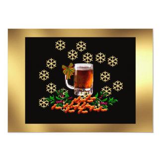 Bier en Pinda's 12,7x17,8 Uitnodiging Kaart
