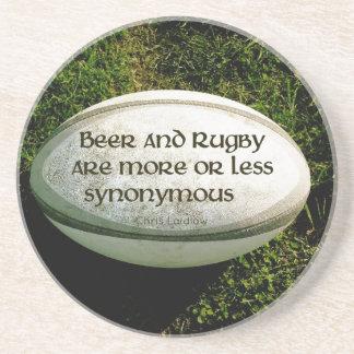 Bier en Rugby Zandsteen Onderzetter