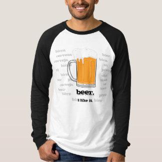 Bier. Ik houd van het T Shirt