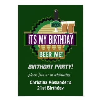 Bier me de Uitnodigingen van de Partij van de