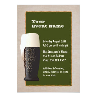 Bier op de Uitnodiging van het Ontwerp