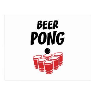 Bier Pong Briefkaart