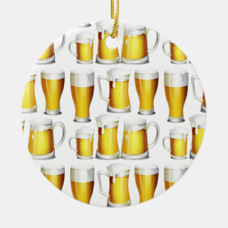 Bier Rond Keramisch Ornament