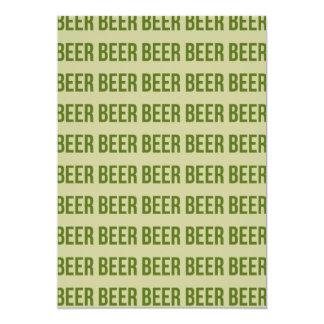 Bier 12,7x17,8 Uitnodiging Kaart