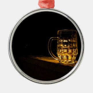 Bier… Zilverkleurig Rond Ornament