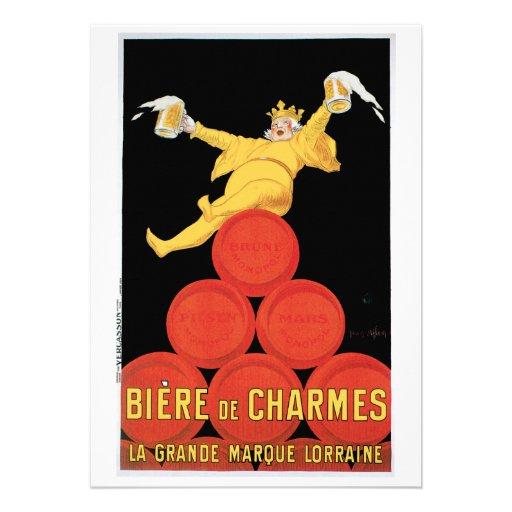 Biere DE Charmes Uitnodiging/de Kaart van de Verja