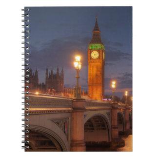 Big Ben en de Brug van Westminster Ringband Notitieboek