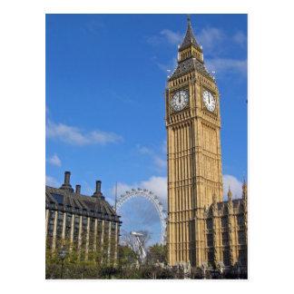 Big Ben en het Briefkaart van het Oog van Londen