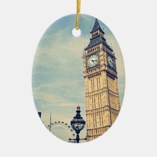 Big Ben Keramisch Ovaal Ornament