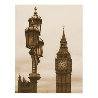 Big Ben op de Achtergrond - Briefkaart