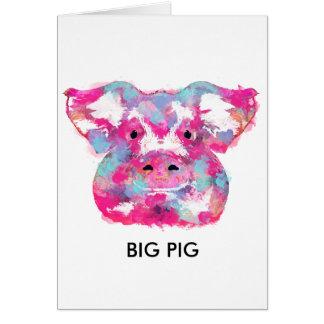 Big pink pig dirty ego kaart