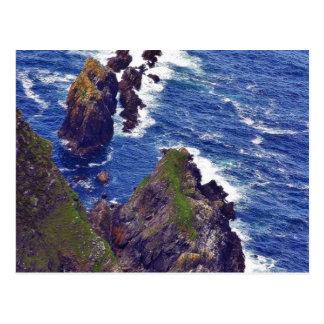Bij de Klippen van de Liga Slieve in Ierland 3 Briefkaart