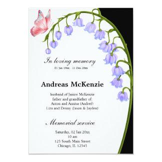 Bij het houden van van geheugen 12,7x17,8 uitnodiging kaart