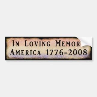 Bij het Houden van van Geheugen Amerika 1776 - 200 Bumpersticker
