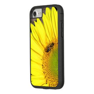 Bij op de Foto van het Close-up van de Zonnebloem Case-Mate Tough Extreme iPhone 8/7 Hoesje