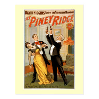 Bij Piney Poster van het Theater van de Rand Briefkaart