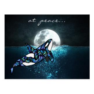 bij Walvis van de Orka Trippy van de vredes~ Volle Briefkaart