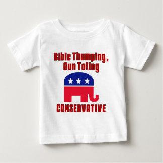 Bijbel die, Pistool CONSERVATIEVE Totin kloppen Baby T Shirts