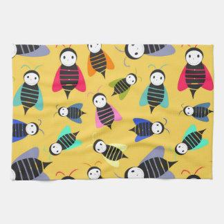 bijen dierlijk patroon theedoek