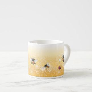 Bijen en lieveheersbeestje espresso kop
