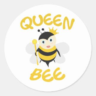 Bijenkoningin Ronde Sticker