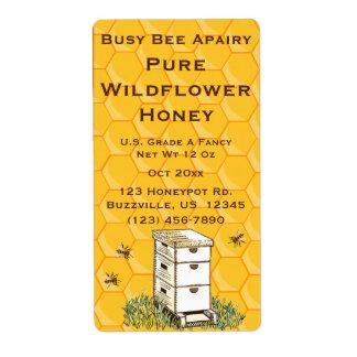 Bijenkorf en Honingraat Gepersonaliseerde Etiket