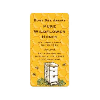 Bijenkorf en Honingraat Gepersonaliseerde Stijl 2 Etiket