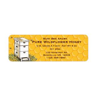 Bijenkorf en Honingraat Gepersonaliseerde Stijl 3 Etiket