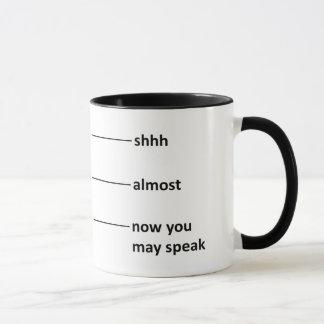 Bijna nu mag u Koffie spreken die Kop meten