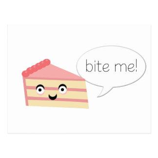 Bijt me Cake Briefkaart