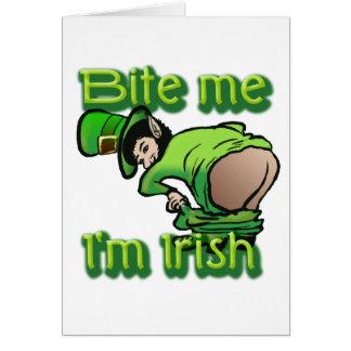 Bijt me. Ik ben Iers Kaart