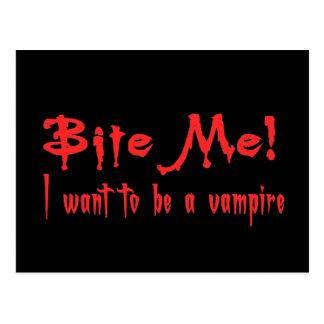 Bijt me ik willen een Vampier zijn Briefkaart