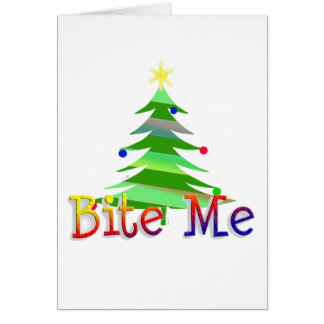 Bijt me Kerstboom Kaart