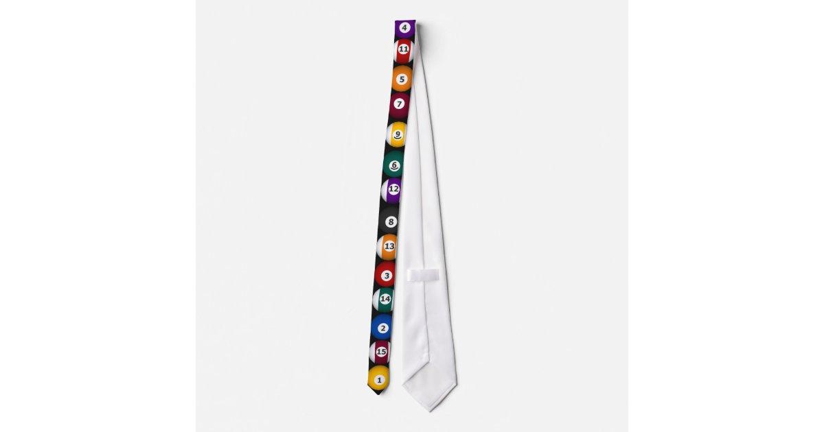 Biljart de ballen van de pool het stropdas van zazzle - Decoratie biljart ...