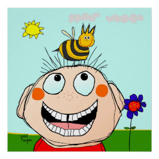 billy and the bee poster