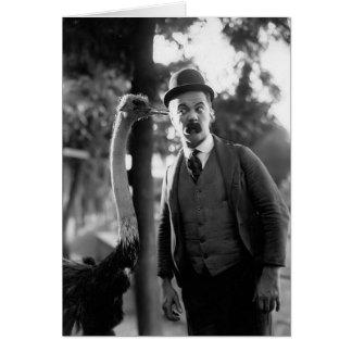 Billy Bevan met een Struisvogel, Circa Recente Briefkaarten 0
